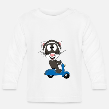Djur Ferret - Roller - Animal - Cartoon - Långärmad baby T-shirt