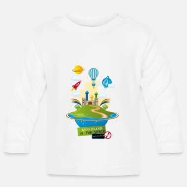 Montgolfière kid's island in the space - T-shirt manches longues Bébé