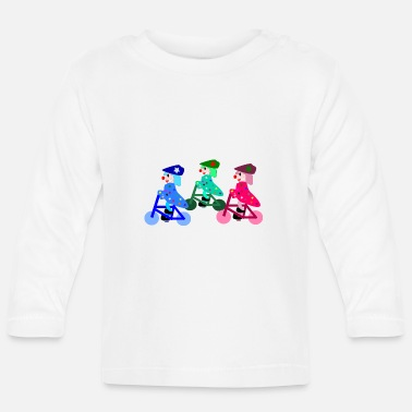 Bicyclette Clowns de bicyclette coloré - T-shirt manches longues Bébé