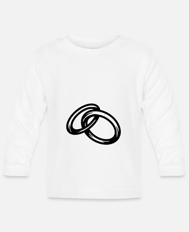 Engagement Baby Long-Sleeved Shirts - Rings - Baby Longsleeve Shirt white