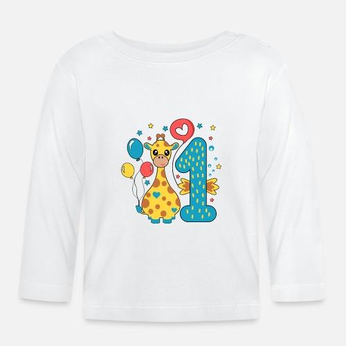 dfd6256791c primer cumpleaños 1er año mono de regalo chico Camiseta de manga ...