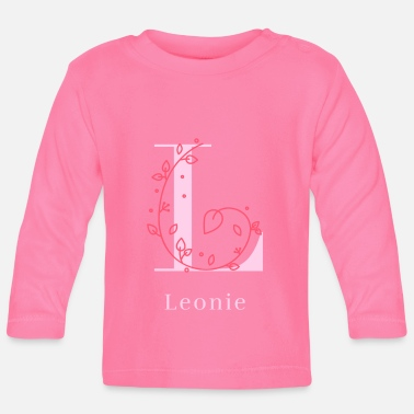Womens Name Leonie last name first name girl women maiden name - Baby Longsleeve Shirt