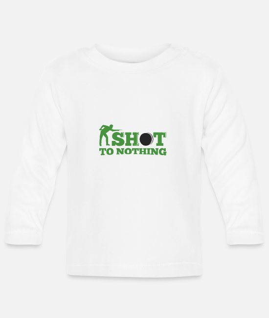Cue Baby Long-Sleeved Shirts - Snooker shot to nothing - Baby Longsleeve Shirt white