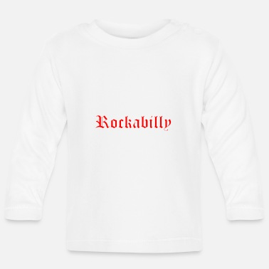 rockabilly red outline white - Baby Longsleeve Shirt