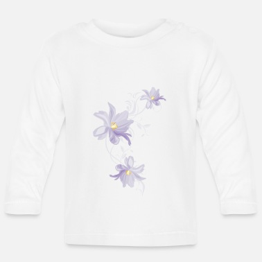 Lilac Lilac tulips - Baby Longsleeve Shirt
