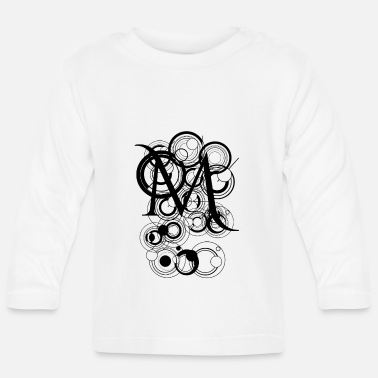 Alfabet Letter abstract M - Baby longsleeve