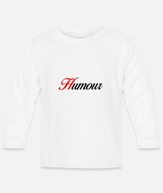 Heart Baby Long-Sleeved Shirts - Humor - Baby Longsleeve Shirt white
