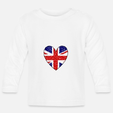 Uk Great Britain Heart - Baby Longsleeve Shirt