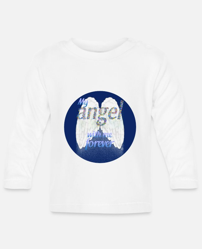Angelwings Baby Long-Sleeved Shirts - My angel with me forever - Baby Longsleeve Shirt white