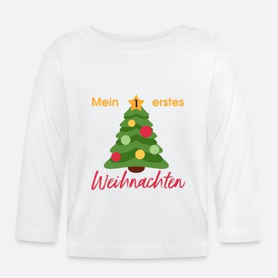 wholesale dealer 1a287 08bc3 Mein erstes Weihnachten Baby Langarmshirt - Weiß
