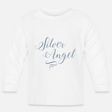 Silver Silver Angel in Silver Metallic - Baby Longsleeve Shirt