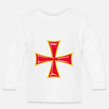 Knight's Cross Knight's Cross / Knights Cross red-yellow - Baby Longsleeve Shirt