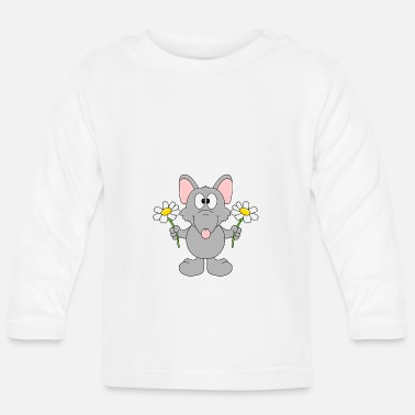 Trend Funny Rat - Flowers - Gift - Animal - Fun - Baby Longsleeve Shirt