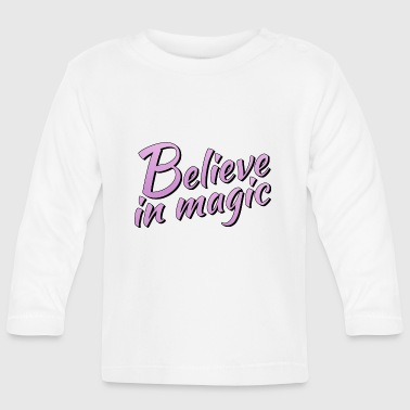 Lilac Believe in magic logo in lilac - Baby Long Sleeve T-Shirt