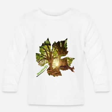 Celtic forest 25 in the leaf with squirrels - Baby Longsleeve Shirt