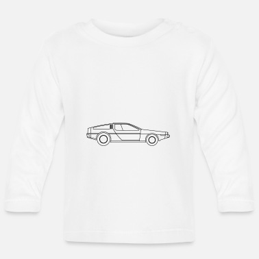 Future Delorean Time Driving Future Car Time Travel Movie - Baby Longsleeve Shirt