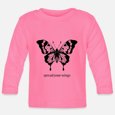 Spread spread your wings - Baby Langarmshirt