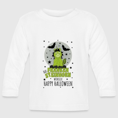 The Frankensteinhorn wishes Happy Halloween schw - Baby Long Sleeve T-Shirt