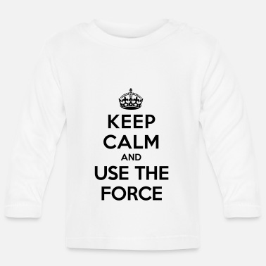 Keep calm and use the Force (Star Wars) - Långärmad baby T-shirt