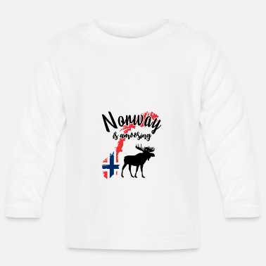 Norway is amoosing - Baby longsleeve