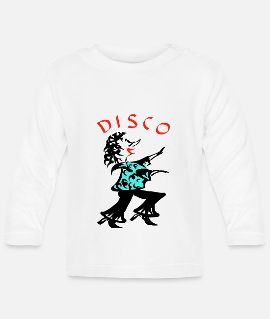 Disco Girl Baby Long-Sleeved Shirts - disco - Baby Longsleeve Shirt white