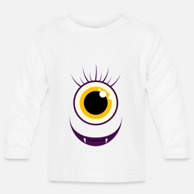 Monster Monster Face Mama - Baby Long Sleeve T-Shirt