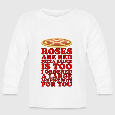 poema de pizza - Camiseta manga larga bebé