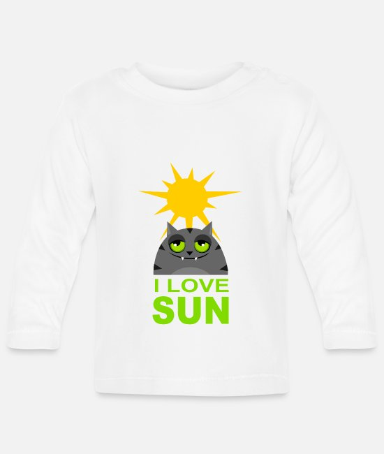 Love Baby Long-Sleeved Shirts - Funny cat - Baby Longsleeve Shirt white
