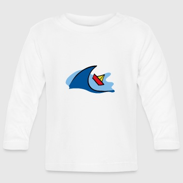 Boat Small paper boat floating in the waves - Baby Long Sleeve T-Shirt