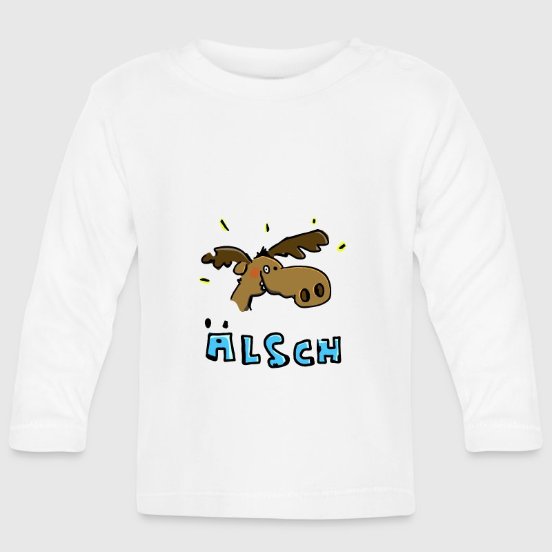 The Moose is in a good mood - Baby Long Sleeve T-Shirt