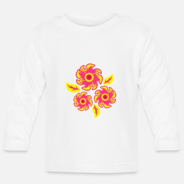 Three Of A Kind three flowers - Baby Longsleeve Shirt