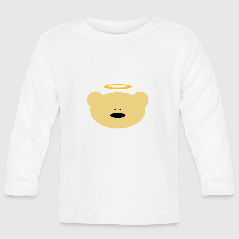 Cute Teddy Bär Angel with Halo - Baby Long Sleeve T-Shirt