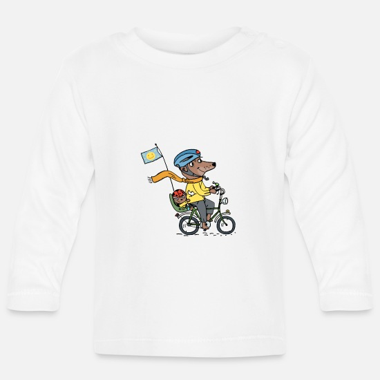 Kindergarten Baby Clothes - Dad and Jan / kidscontes - Baby Longsleeve Shirt white