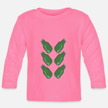 Green Beer Sixpack green beer bottles - Baby Longsleeve Shirt