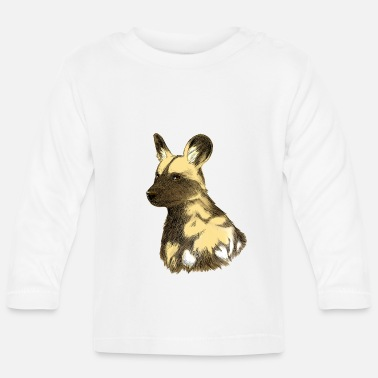 Dog African wild dog sketch - Baby Long Sleeve T-Shirt