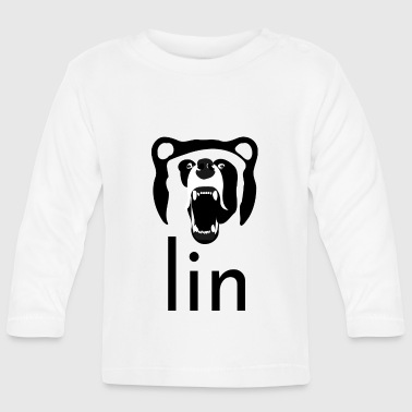 Berlin Art Abstract Bear Gift Design Graphic - Baby Long Sleeve T-Shirt