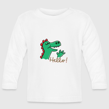 Cute Dragon says Hello - Baby Long Sleeve T-Shirt