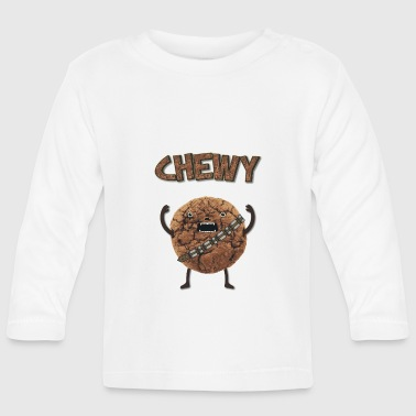 Funny Nerd Humor - Chewy Chocolate Cookie Wookiee - T-shirt manches longues Bébé