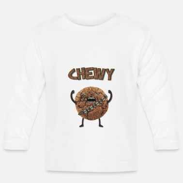 Fantaisie  Funny Nerd Humor - Chewy Chocolate Cookie Wookiee - T-shirt manches longues Bébé