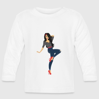 Pinup girl - Baby Long Sleeve T-Shirt