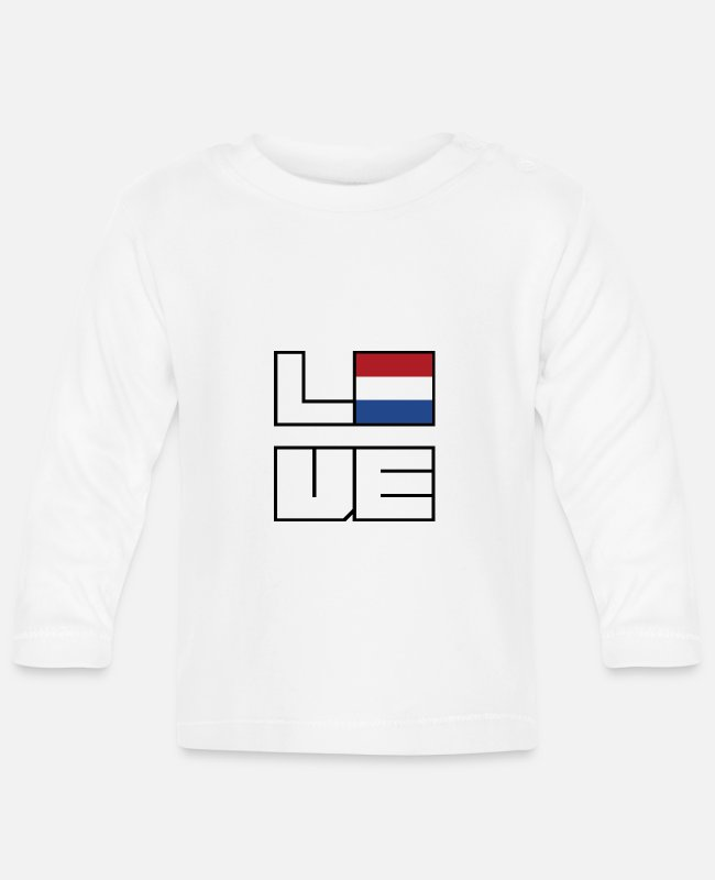 EU Baby Long-Sleeved Shirts - Love home roots Roots Netherlands - Baby Longsleeve Shirt white