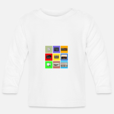 Zx Pixel Retro Gaming Machines Squares - Baby Longsleeve Shirt