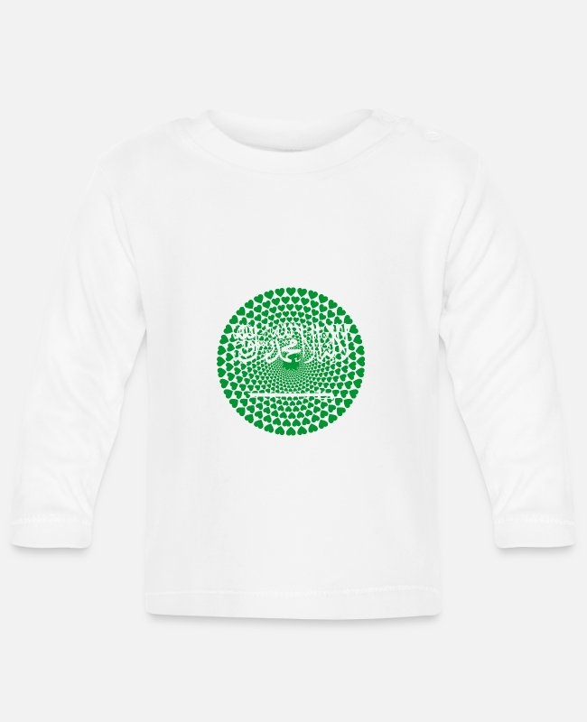 Heart Baby Long-Sleeved Shirts - Saudi Arabia Saudi Arabia Love HEART Mandala - Baby Longsleeve Shirt white