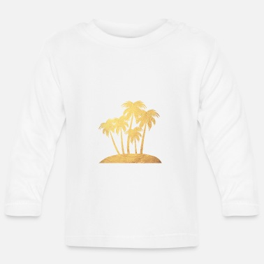 Gold Rush Palm trees gold beach luxury vacation island - Baby Longsleeve Shirt