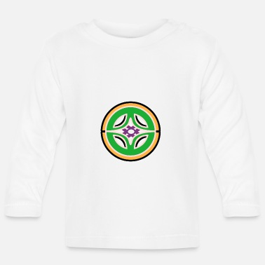 Circle Orange and green - Baby Longsleeve Shirt
