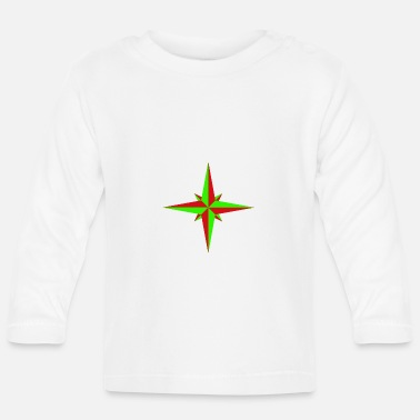 Starboard Windrose / compass rose / compass / compass - Baby Longsleeve Shirt