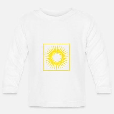 Bright Geometry stripes sun abstract square - Baby Longsleeve Shirt