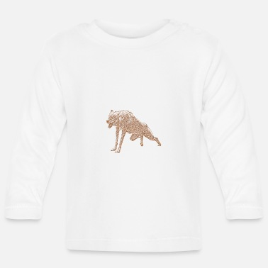 Aggressive Aggressive Wolf - Baby Longsleeve Shirt