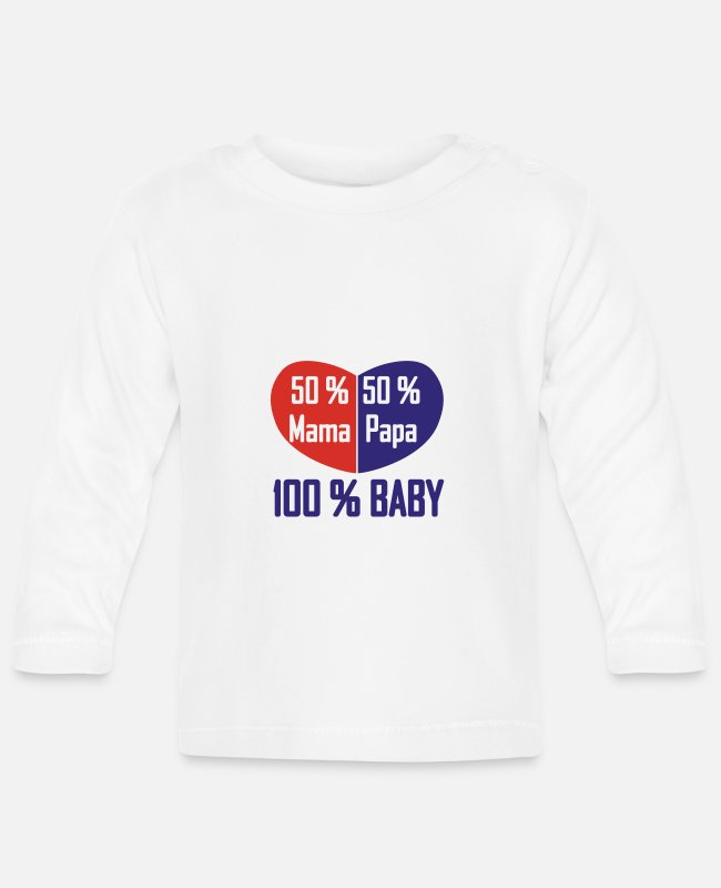 Pregnancy Baby Long-Sleeved Shirts - 50/50% Young - Baby Longsleeve Shirt white