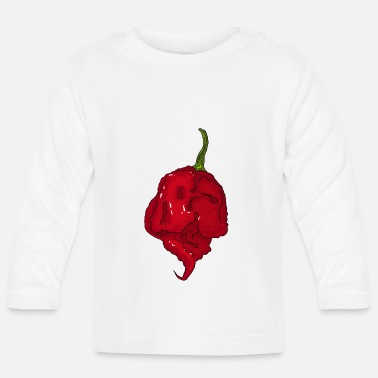 Skarp Chili Pepper Hot Sauce Carolina Reaper Spicy Food - Långärmad T-shirt baby